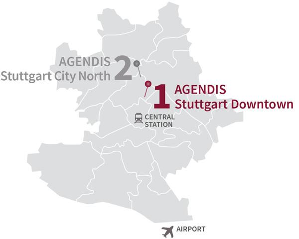 Business Center Stuttgart Downtown Agendis BC Stuttgart